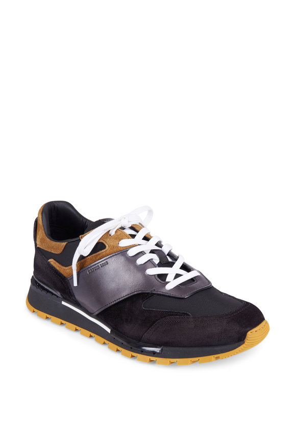 Berluti Navy Leather & Suede Sneaker