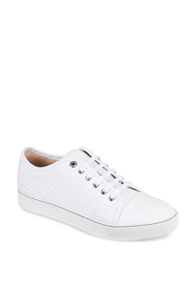 Lanvin - White Woven Leather Sneaker