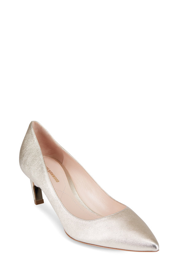 Nicholas Kirkwood Mira Light Metallic Gold Pearl Pump, 55mm