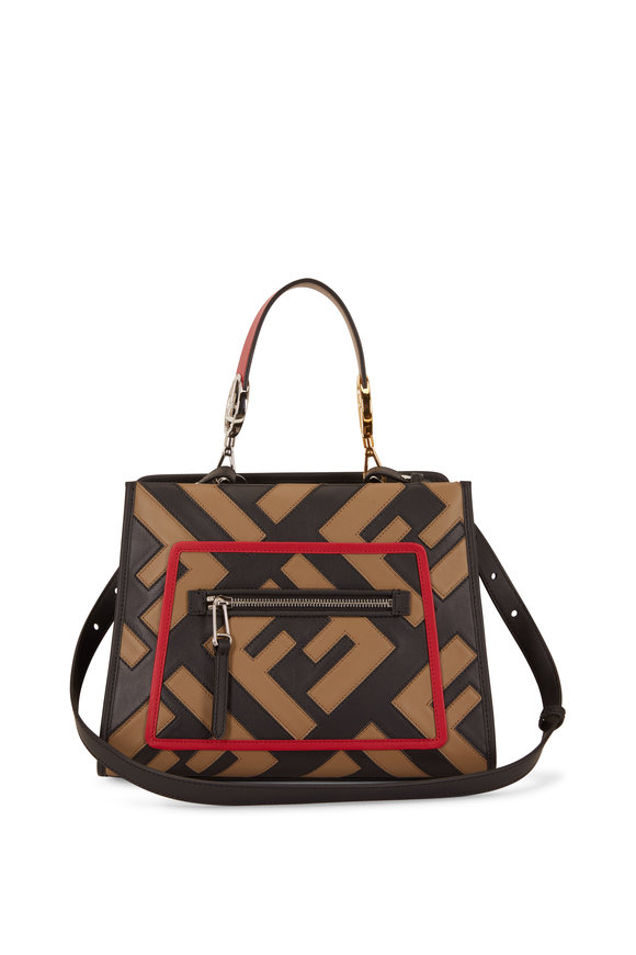 Fendi Runaway Black Leather Century Mix Small Bag