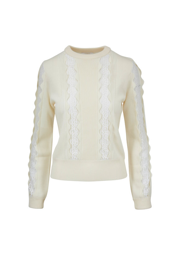 Chloé Iconic Milk Lace Inset Sweater