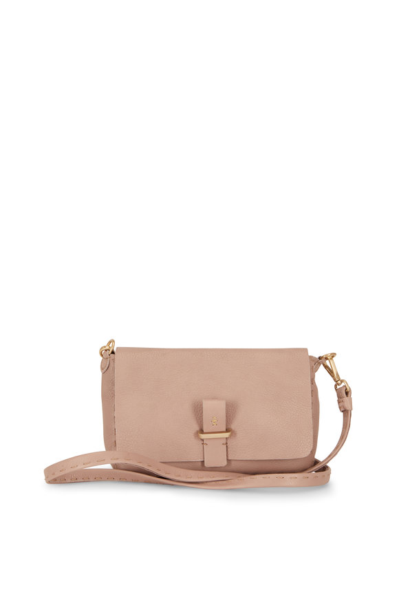 Henry Beguelin Pochette Simply Band Taupe Small Shoulder Bag
