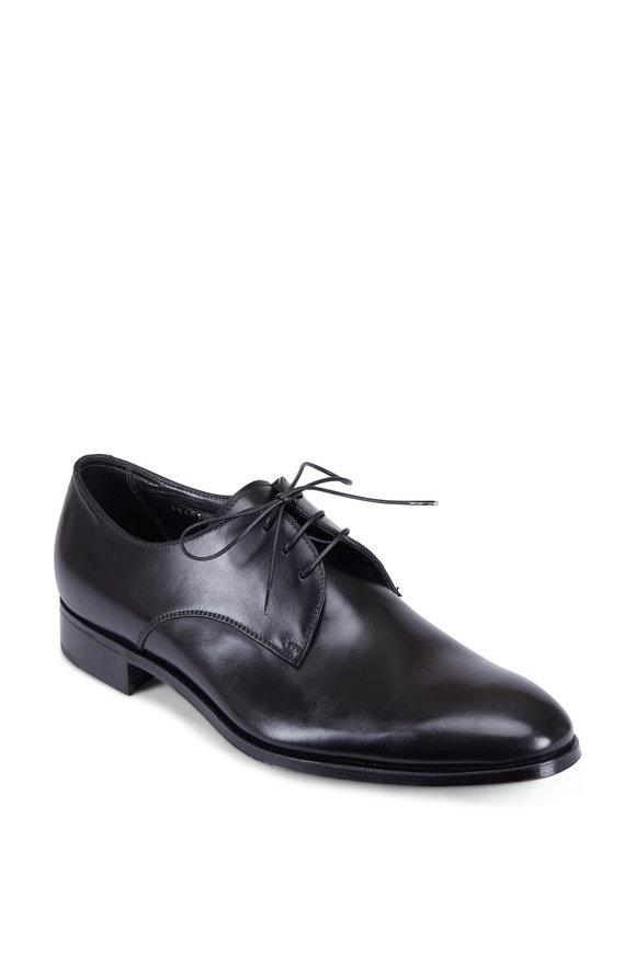 Gravati Black Leather Derby Dress Shoe