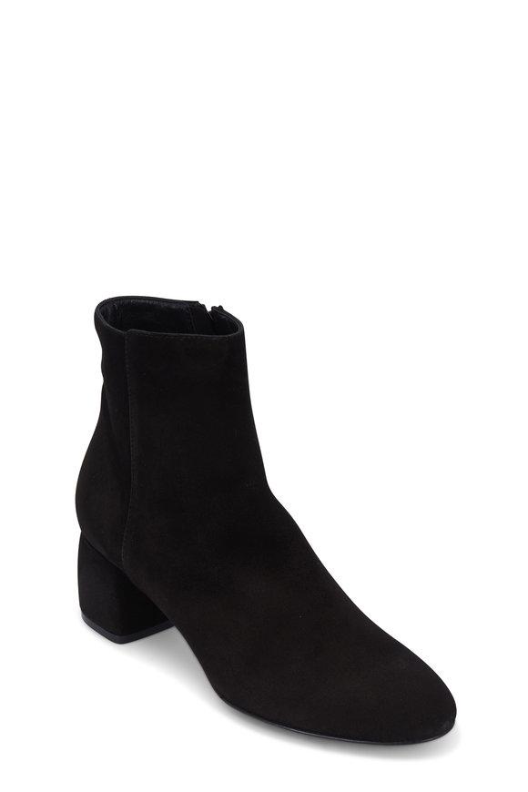 AGL Black Suede Block Heel Ankle Boot, 50mm