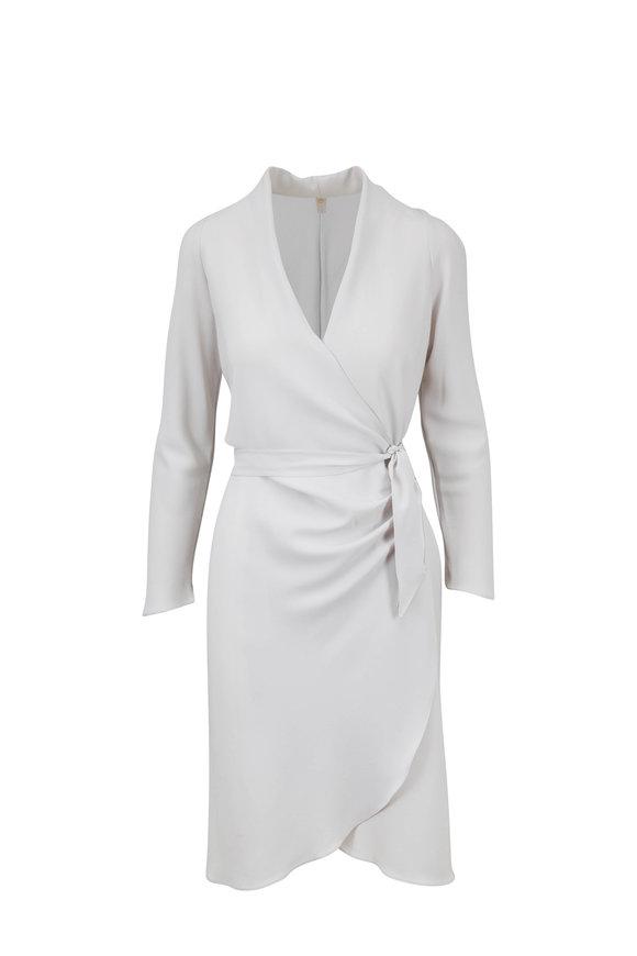 Peter Cohen Ivory Side Tie V-Neck Dress