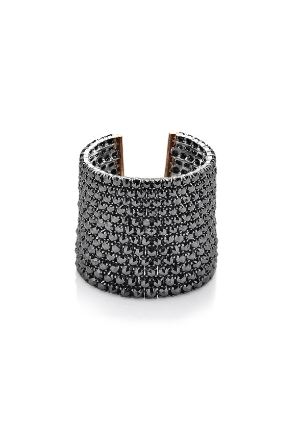 Paolo Costagli 18K Rose Gold Black Diamond Cuff