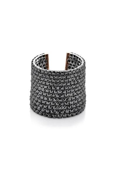 Paolo Costagli - 18K Rose Gold Black Diamond Cuff