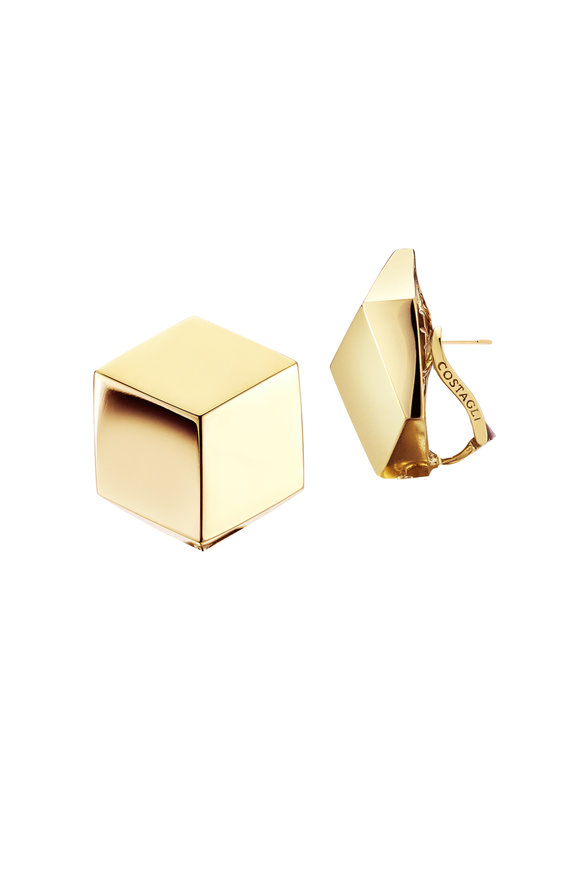 Paolo Costagli 18K Yellow Gold Brillante Stud Earrings