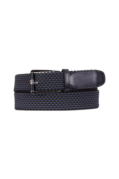 Berluti - Black Fabric Woven Belt