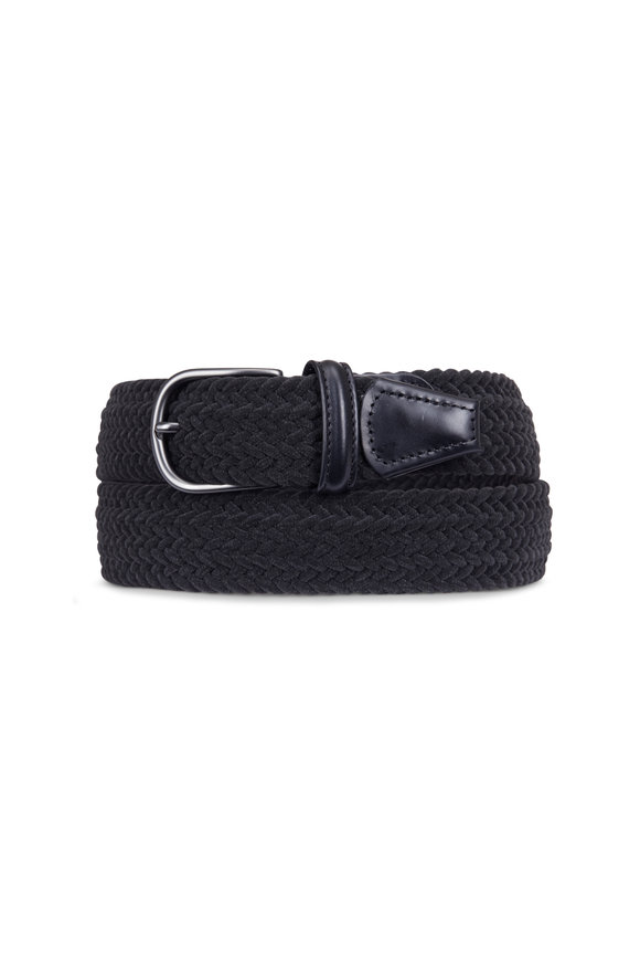 Anderson's Charcoal Grey Suede Stitch Belt
