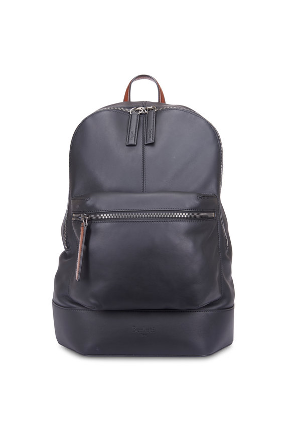 Berluti Volume Black Leather Backpack