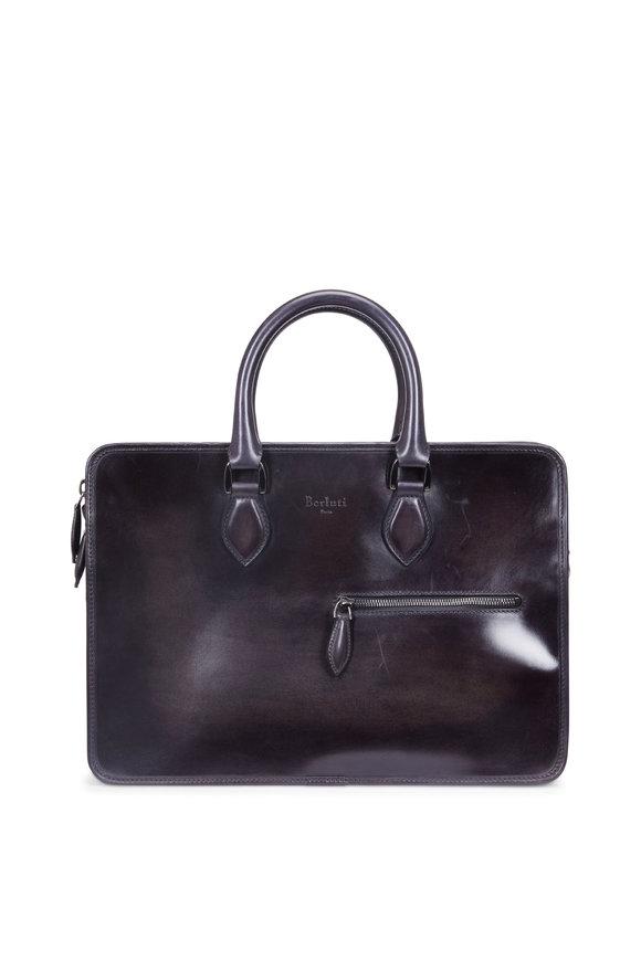 Berluti Un Jour Mini Deep Black Leather Briefcase