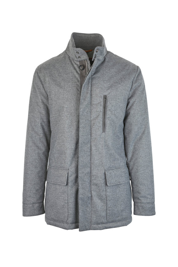Luciano Barbera Gray Flannel Jacket
