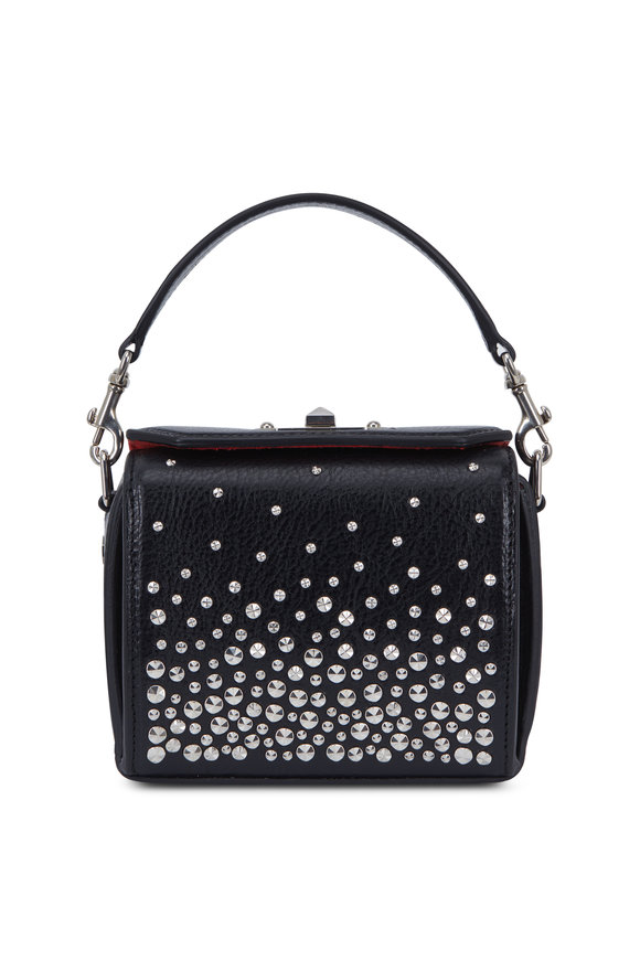 Alexander McQueen Black Leather Studded Nano Box Bag