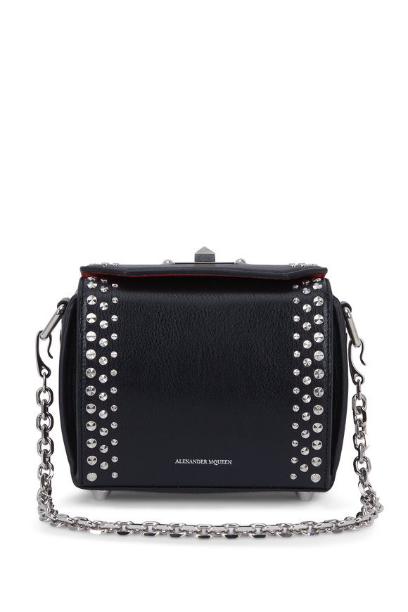 Alexander McQueen Box Bag Black Leather Studded Small Bag