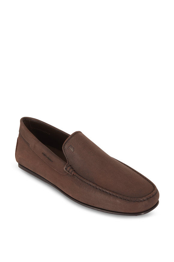 Tod's Gomini Brown Pebbled Leather Loafer