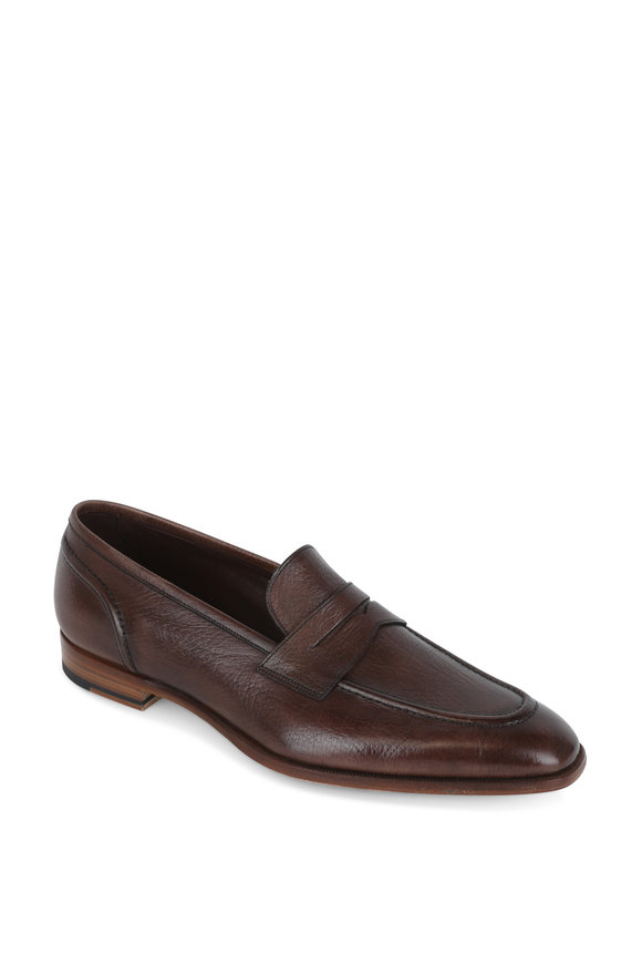 Gaziano & Girling Capri Espresso Leather Penny Loafer