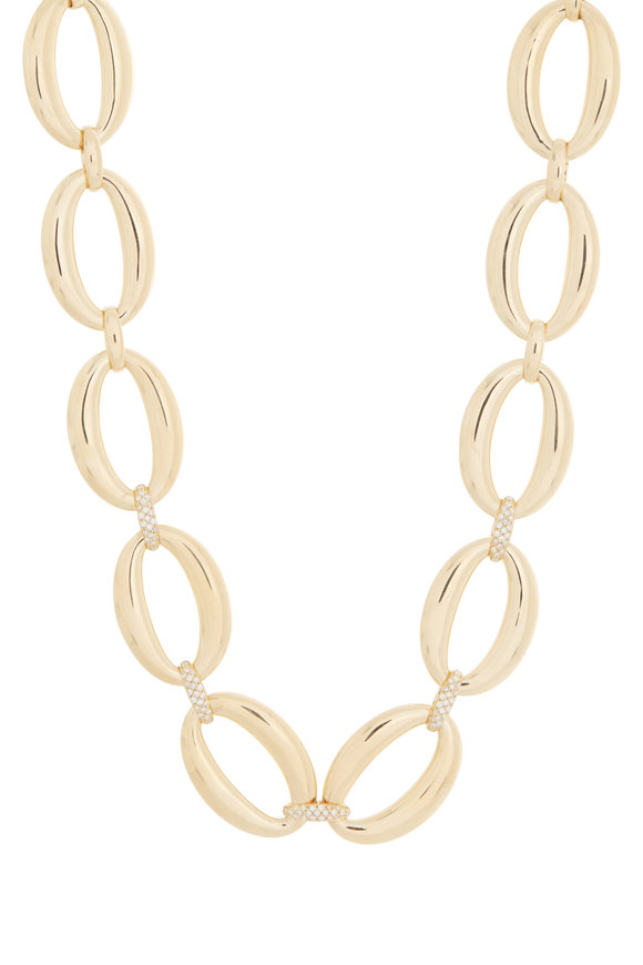 Alberto Milani 18K Yellow Gold Oval Link Necklace