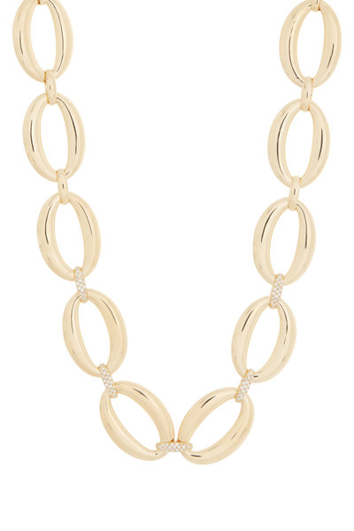 Alberto Milani - 18K Yellow Gold Oval Link Necklace