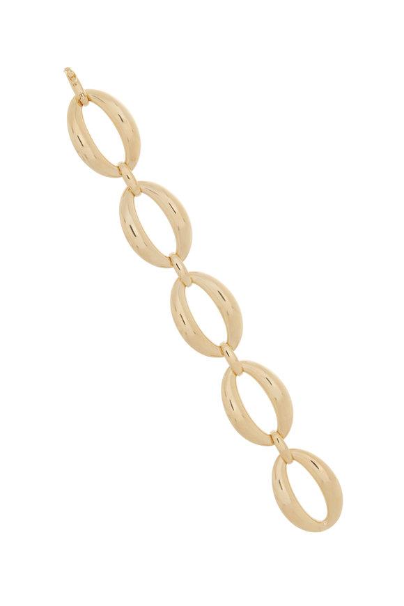 Alberto Milani 18K Yellow Gold Oval Interlock Bracelet