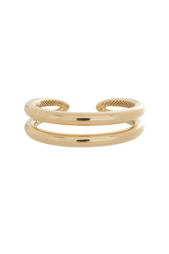 Alberto Milani 18K Yellow Gold Double Coil Cuff