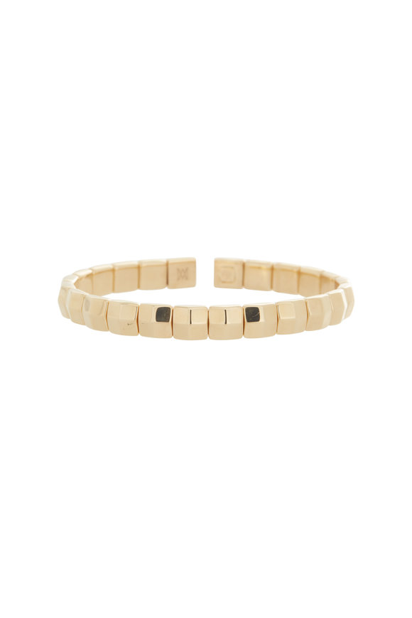 Alberto Milani 18K Yellow Gold Square Cuff