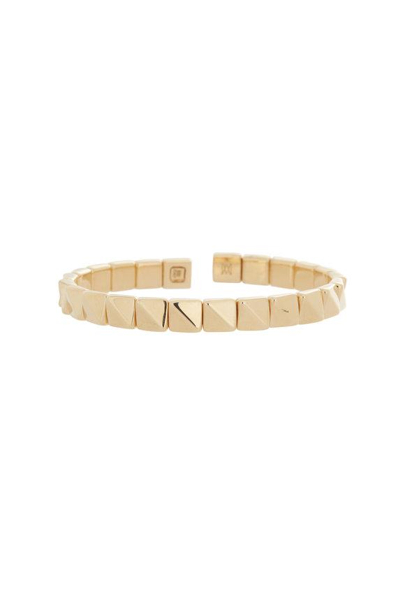 Alberto Milani 18K Yellow Gold Square & Triangle Bracelet