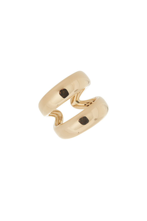 Alberto Milani 18K Yellow Gold Double Row Band