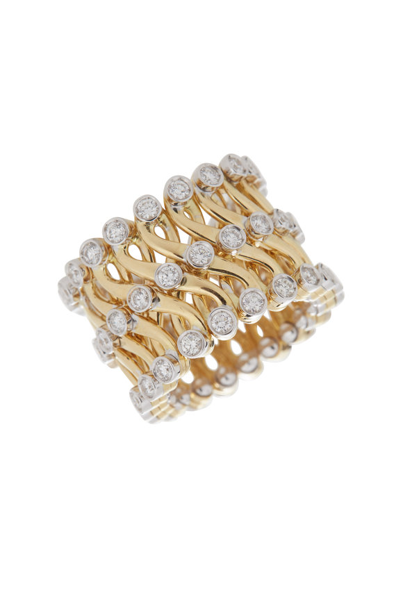 Alberto Milani 18K Yellow Gold Expandable Ring
