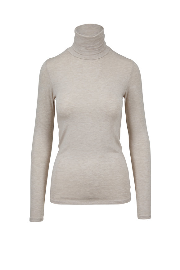 Majestic Gold Metallic Superwashed Turtleneck