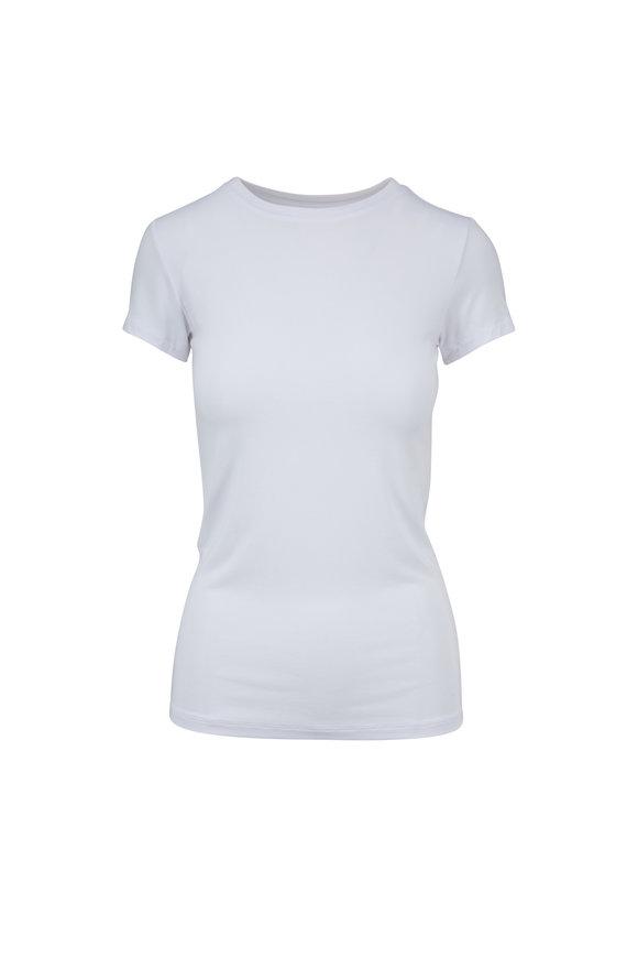 L'Agence Ressi White Jersey Knit T-Shirt