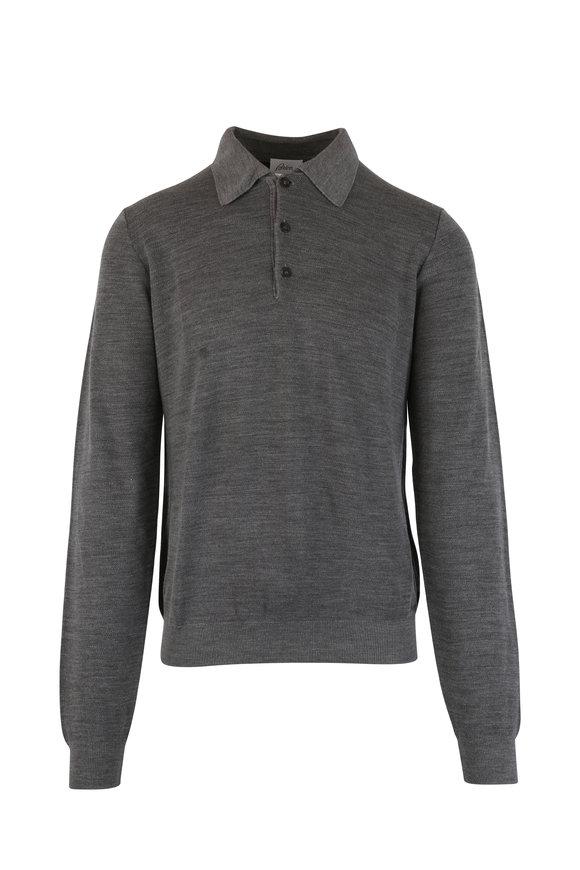 Brioni Gray Wool Sweater
