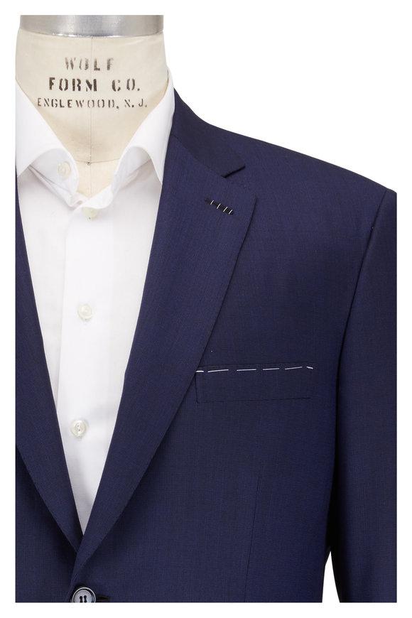Brioni Navy Blue Micro Textured Suit