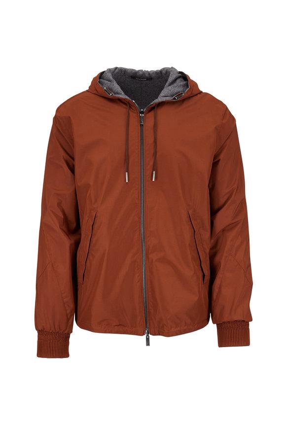 Ermenegildo Zegna Rust & Gray Fleece Reversible Jacket