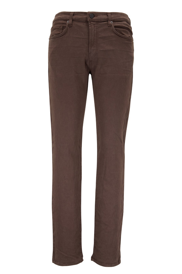 J Brand Kane Brown Slim Straight Five Pocket Jean