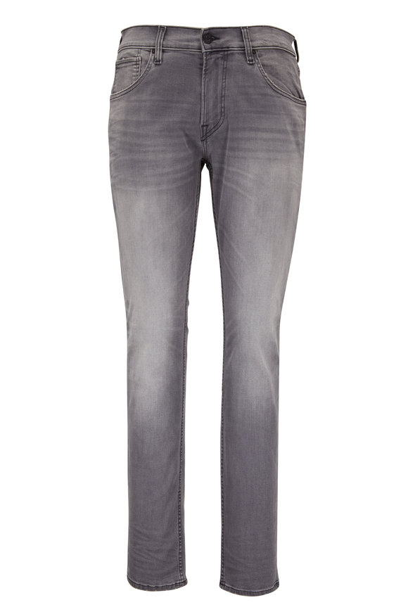 Hudson Clothing Blake Gray Slim Straight Five Pocket Jean