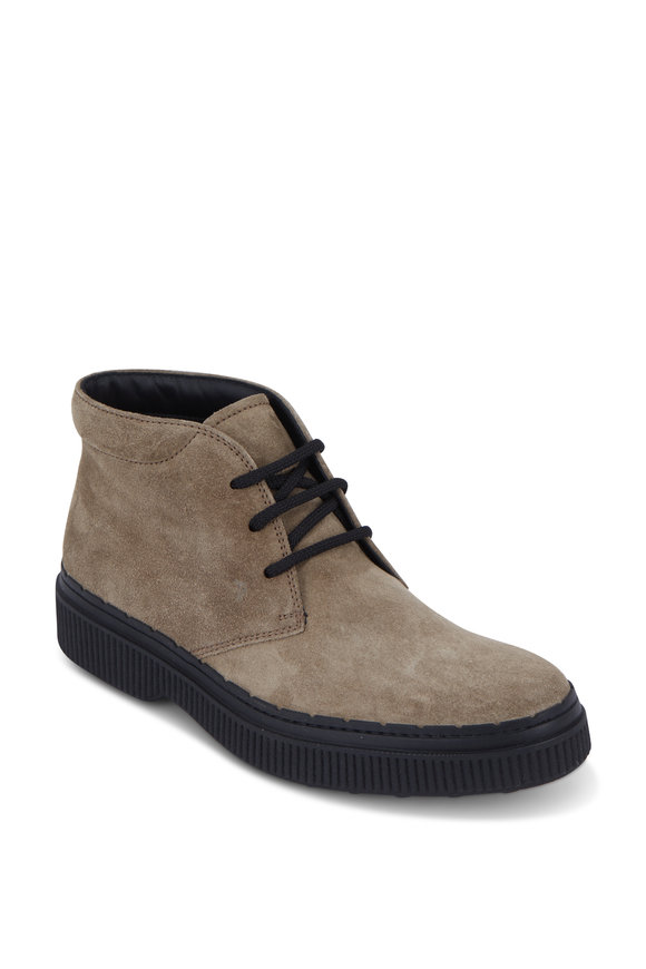 Tod's Polacco Light Brown Suede Chukka Boot