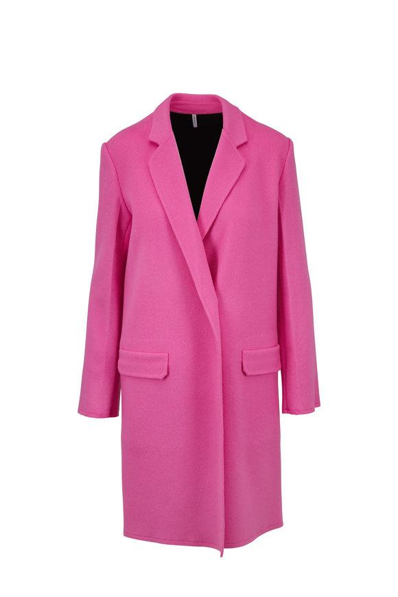 Helmut Lang Bubblegum Pink Double-Faced Coat