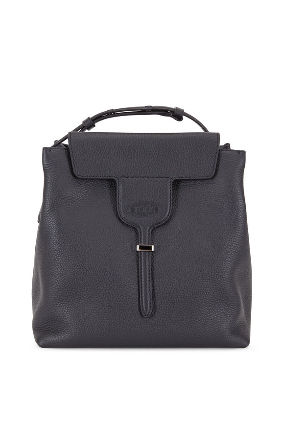 Tod's Joy Black Pebbled Leather Small Hobo Bag