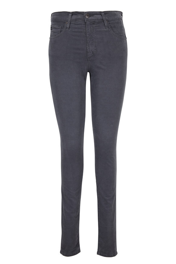 AG - Adriano Goldschmied Farrah Gray Corded High-Rise Jean