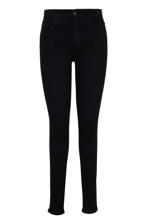 AG - Adriano Goldschmied Farrah Black High-Rise Skinny Jean