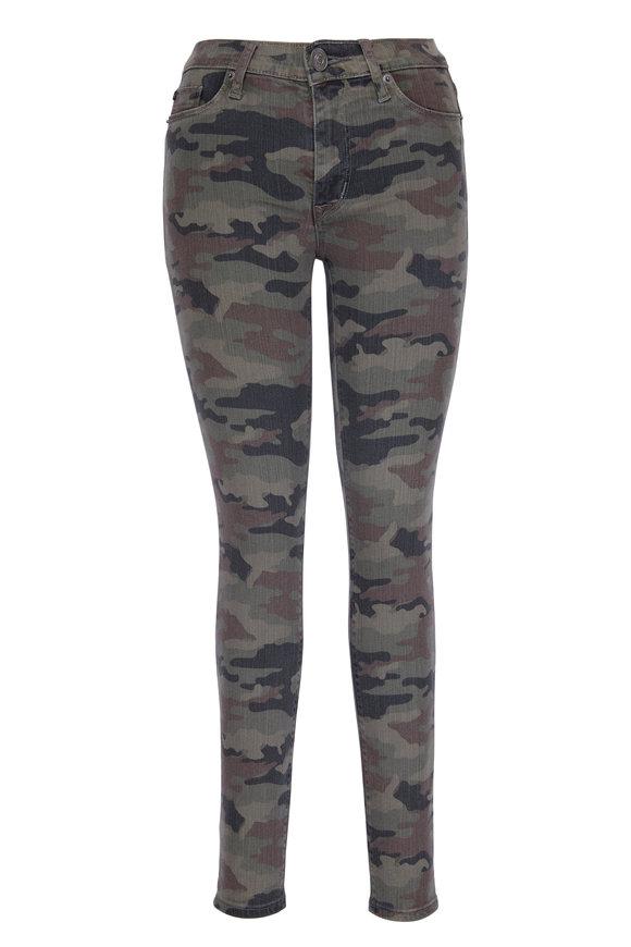Hudson Clothing Barbara Camouflage High-Waist Skinny Jean