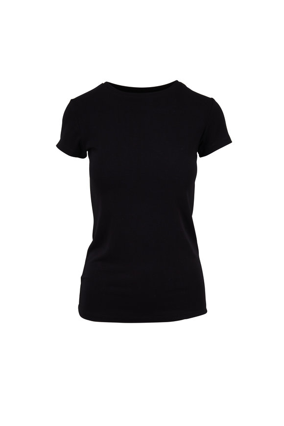 L'Agence Black Short Sleeve T-Shirt