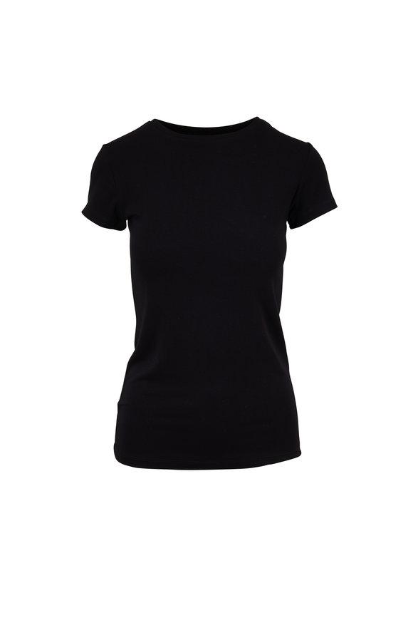 L'Agence Black Short Sleeve T-Shirt
