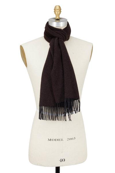 Brioni - Brown & Black Cashmere Diagonal Striped Scarf