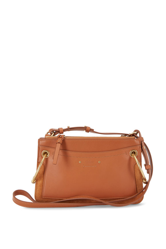 Chloé Roy Caramel Leather & Suede Mini Bag