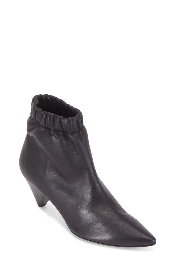 Isabel Marant Leffie Black Leather Elasticized Bootie, 50mm