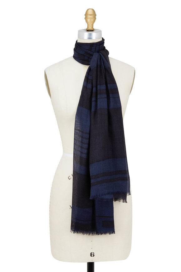 Kinross Inkwell Multi Cashmere & Silk Scarf