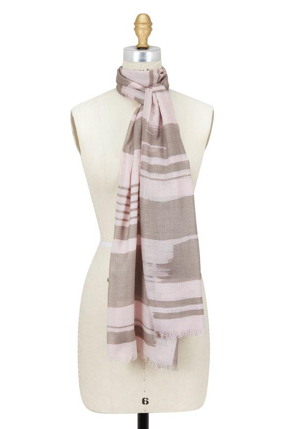 Kinross Quartz Multi Cashmere & Silk Scarf