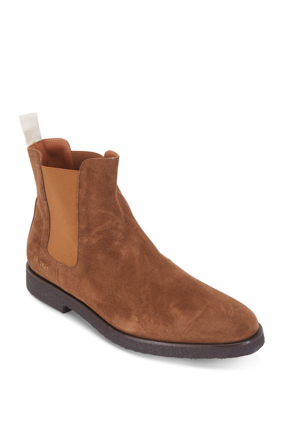 Common Projects Brown Suede Chelsea Boot